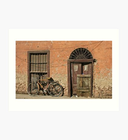 In the Streets of Aswan Art Print