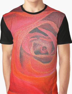 Valentine Red Rose Heart shaped Graphic T-Shirt