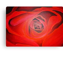 Heart Shaped Valentine Red Rose Canvas Print