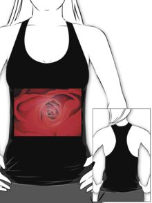 Valentine Red Rose Heart shaped T-Shirt