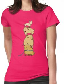 Puppy Totem Womens Fitted T-Shirt