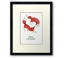Fox Friends Framed Print