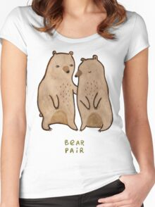 Bear Pair Women's Fitted Scoop T-Shirt