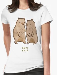 Bear Pair Womens Fitted T-Shirt