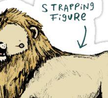 Anatomy of a Lion Sticker