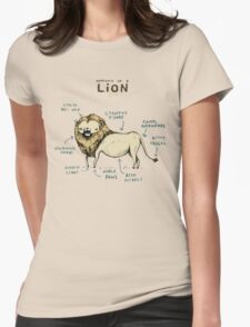 Anatomy of a Lion Womens Fitted T-Shirt
