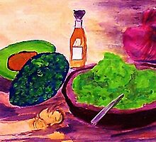 Lets snack, where are the chips??  watercolor by Anna  Lewis