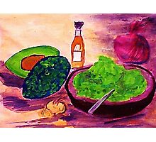 Lets snack, where are the chips??  watercolor Photographic Print
