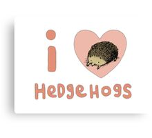 I ❤ Hedgehogs Canvas Print