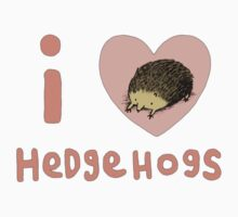 I ❤ Hedgehogs One Piece - Short Sleeve