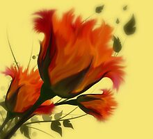 Rose Bouquet by Elizabeth Burton