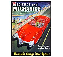 Science and Mechanics Magazine Cover August 1950 (PD) Photographic Print