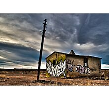 Abandoned on the plains. Photographic Print