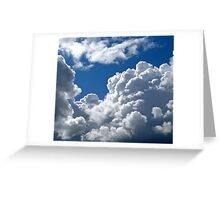 White Clouds over Gothenburg Greeting Card