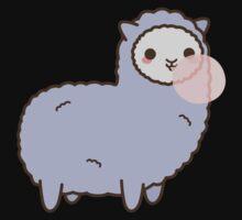 Kawaii Alpaca Blowing Bubble Gum One Piece - Short Sleeve