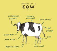 Anatomy of a Cow Kids Tee
