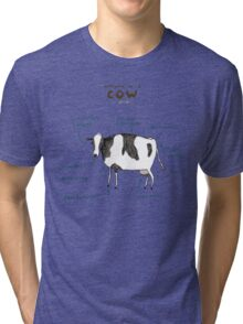 Anatomy of a Cow Tri-blend T-Shirt
