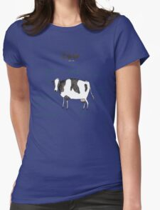 Anatomy of a Cow Womens Fitted T-Shirt