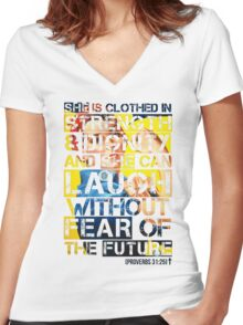 Proverbs 31 Woman - Rosie the Riveter Edition Women's Fitted V-Neck T-Shirt