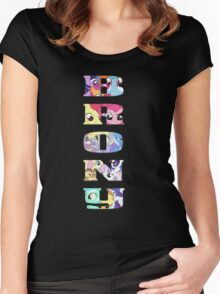 Brony Collage Women's Fitted Scoop T-Shirt