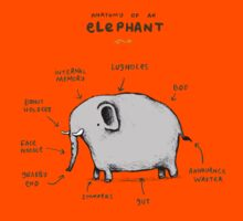 Anatomy of an Elephant Kids Tee