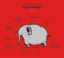 Anatomy of an Elephant Kids Tee
