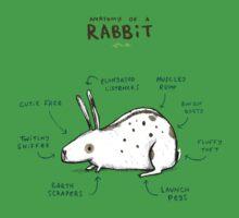 Anatomy of a Rabbit Baby Tee