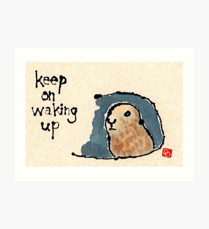 Groundhog Wisdom Art Print