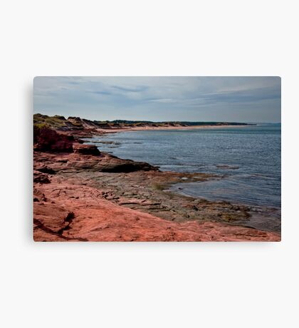 The Shore at Cavendish, PEI Canvas Print