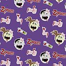 Zombie Cartoon Case - Purple by JessDesigns