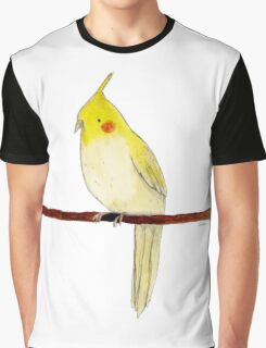 Yellow Cockatiel Graphic T-Shirt