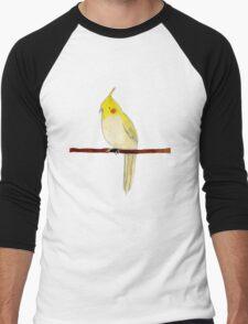 Yellow Cockatiel Men's Baseball ¾ T-Shirt