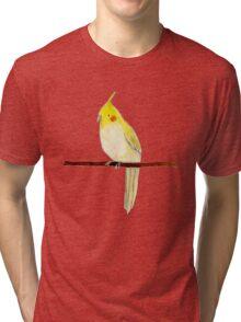 Yellow Cockatiel Tri-blend T-Shirt