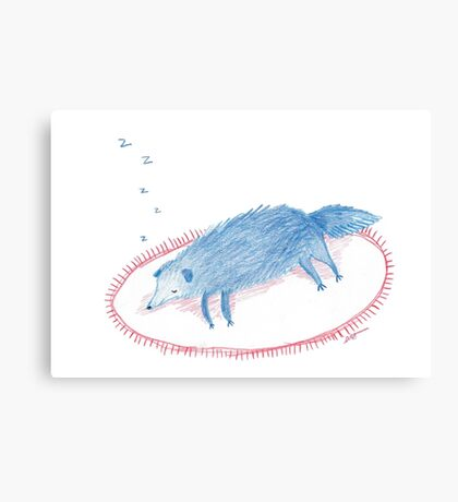 Blue Sleeping Dog Canvas Print