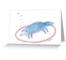 Blue Sleeping Dog Greeting Card
