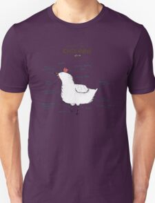 Anatomy of a Chicken Unisex T-Shirt