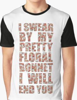 By My Pretty Floral Bonnet Graphic T-Shirt