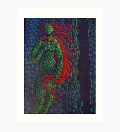 Venus Topiary (Painted Laser Print Collage) Art Print