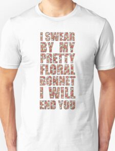 By My Pretty Floral Bonnet Unisex T-Shirt