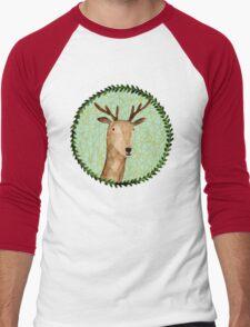 Deer Portrait Men's Baseball ¾ T-Shirt