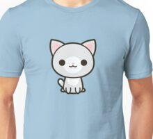 Kawaii grey and white cat Unisex T-Shirt
