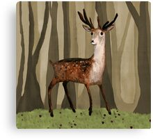 Deer in the Woods Canvas Print