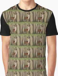 Deer in the Woods Graphic T-Shirt