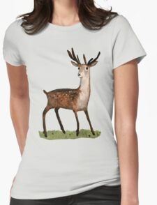 Deer in the Woods Womens Fitted T-Shirt