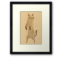 Standing Cat Framed Print