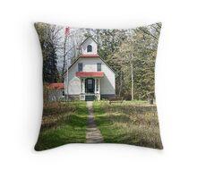 Baileys Harbor Upper Range Litehouse & Residence Throw Pillow
