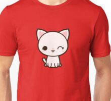 Kawaii white cat Unisex T-Shirt