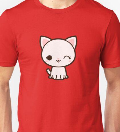 Kawaii white cat Unisex T-Shirt
