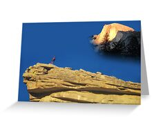 Standing on top of Half Dome Greeting Card