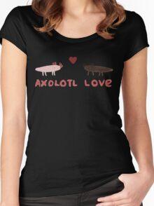 Axolotl Love Women's Fitted Scoop T-Shirt